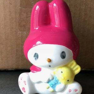 VINTAGE SANRIO MY MELODY CERAMIC COIN BANK 4""